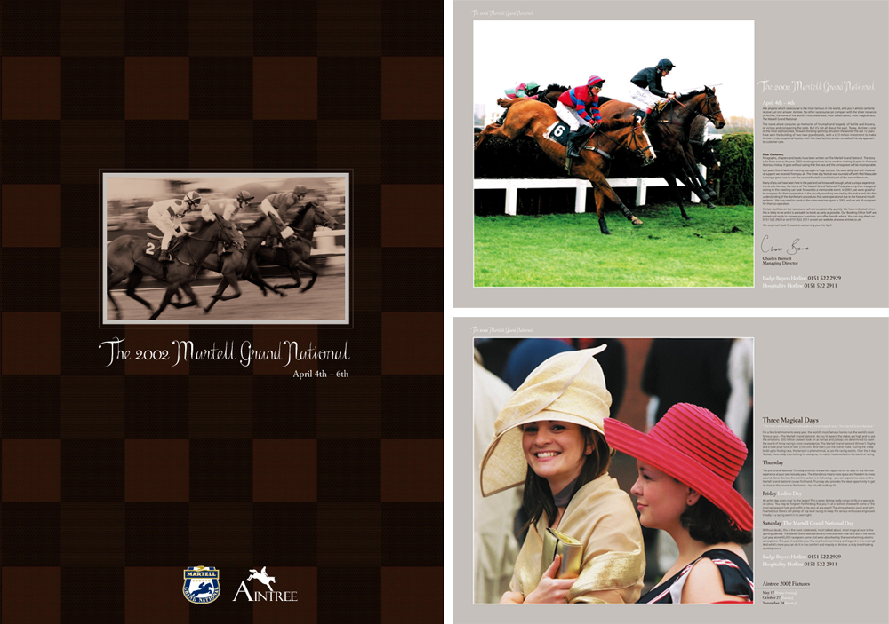 Martell Cognac Grand National: Brochure and spreads 2002