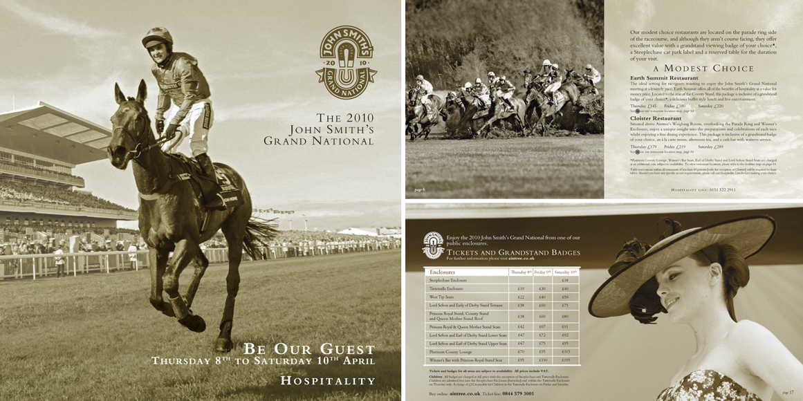 John Smith's Grand National: Brochure and spreads 2010