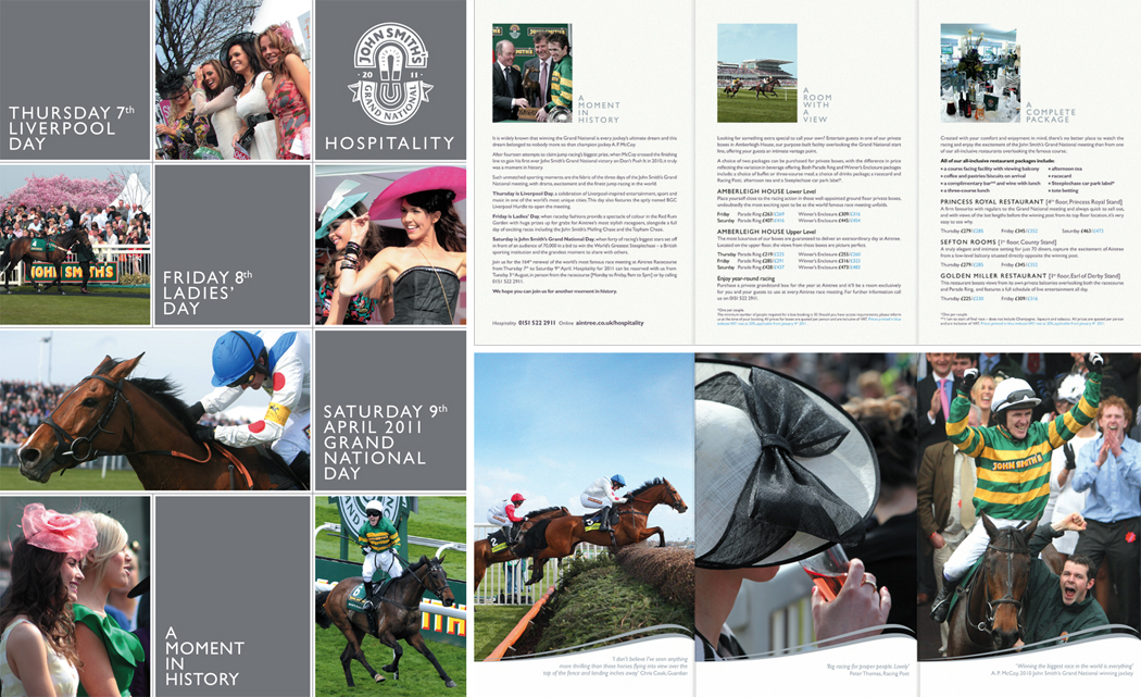 John Smith's Grand National: Brochure and spraeds 2011