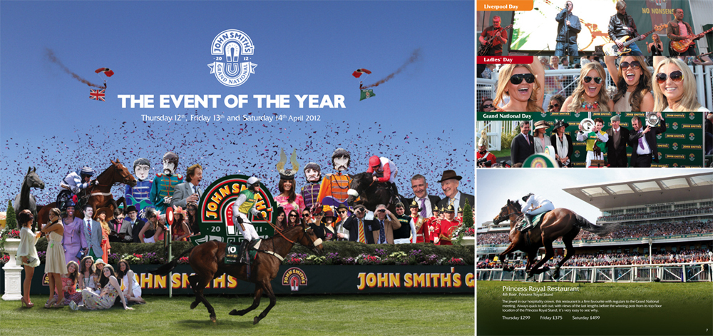 John Smith's Grand National: Brochure cover and pages 2012