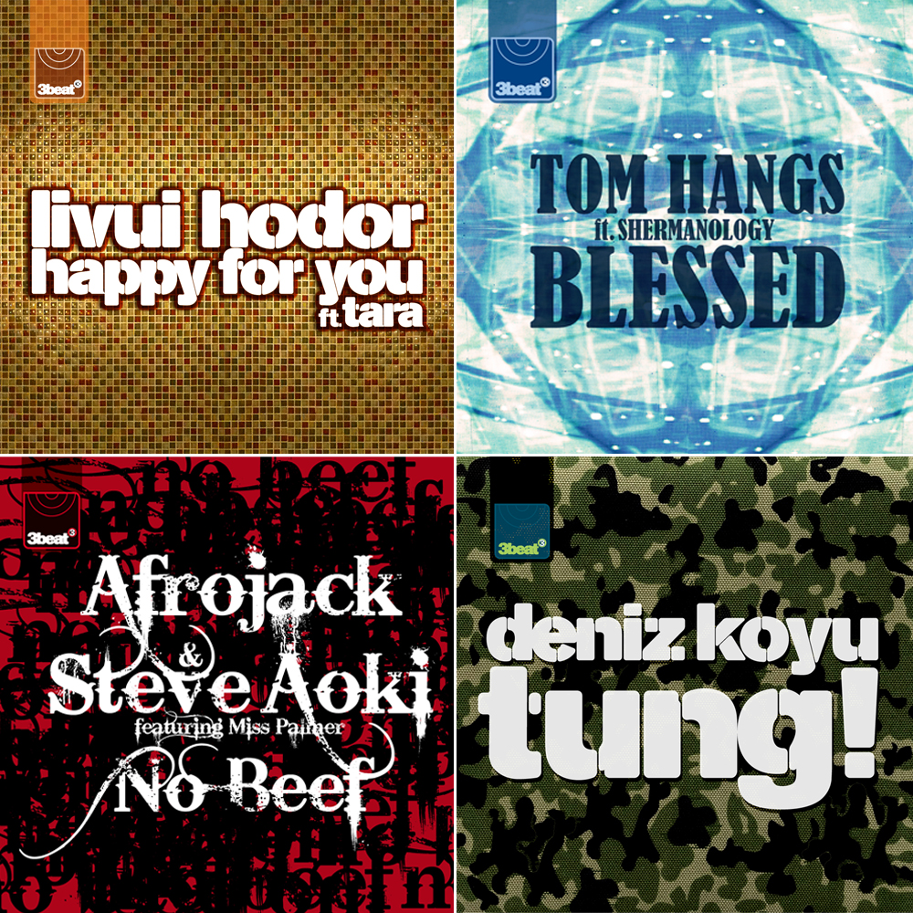 Single sleeves: Livui Hodor, Tom Hangs, Afrojack & Steve Aoki and Deniz Koyu