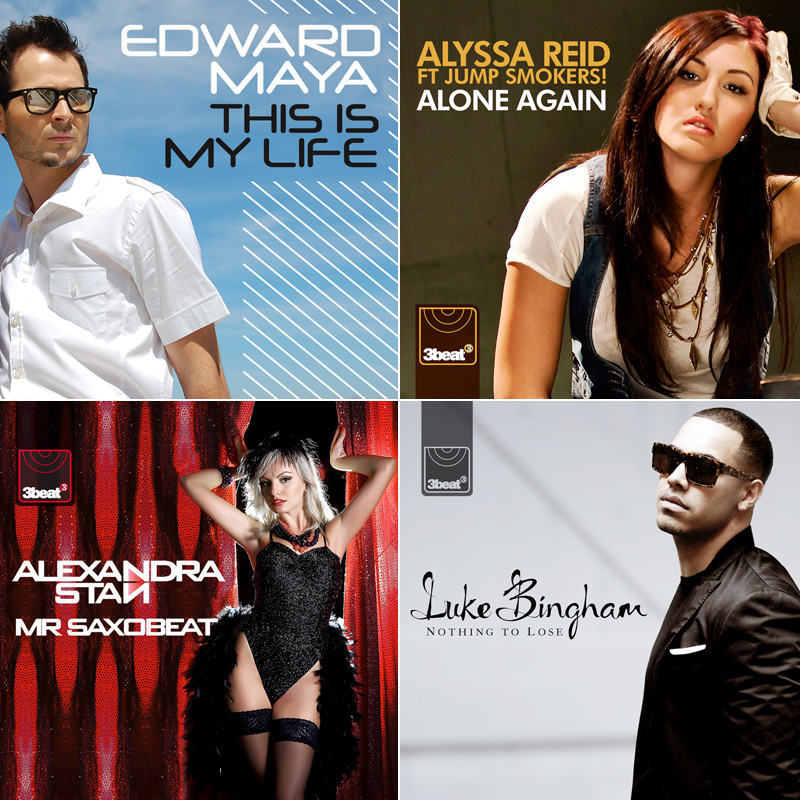 Single sleeves: Edward Maya, Alissa Reid, Alexandra Stan and Luke Bingham
