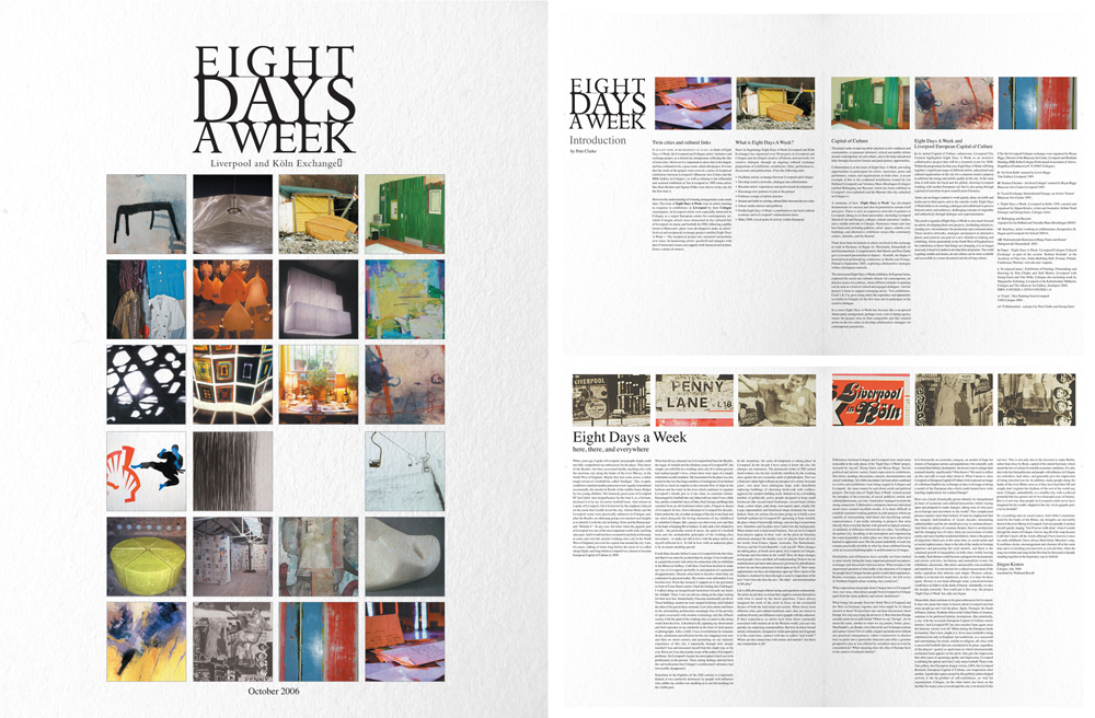 Eight Days A Week: Newspaper spreads 1