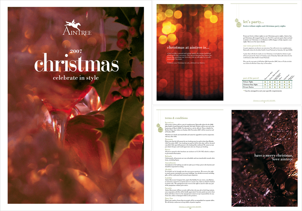 Aintree Christmas Brochure 2007
