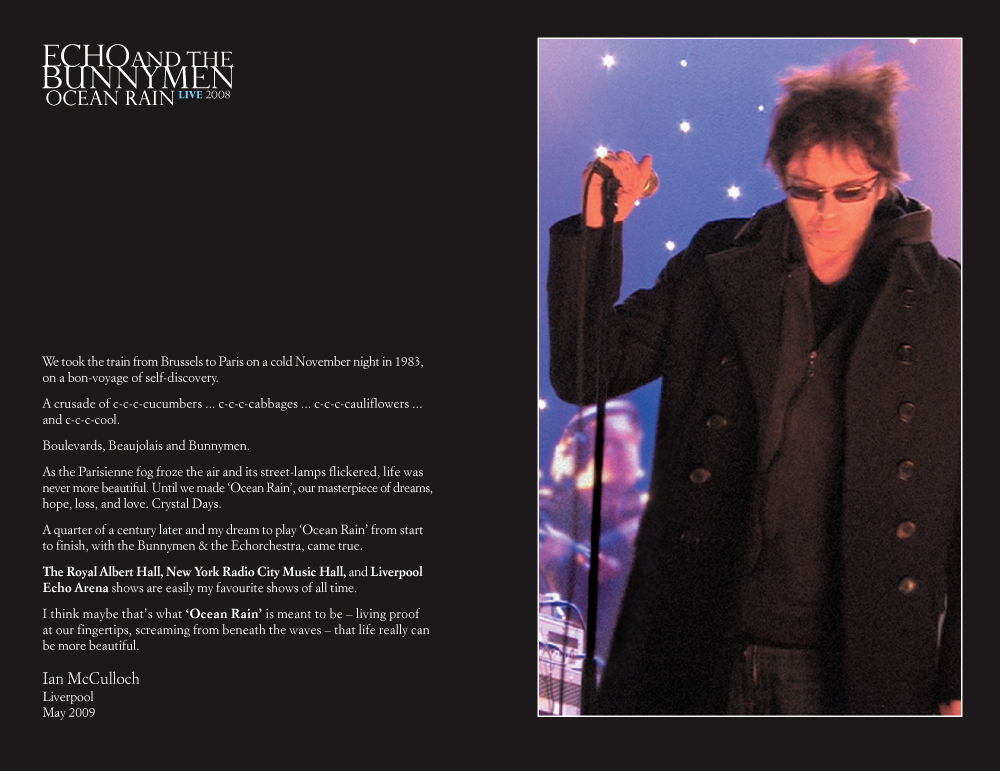 Echo and the Bunnymen - Ocean Rain DVD Booklet spread 2