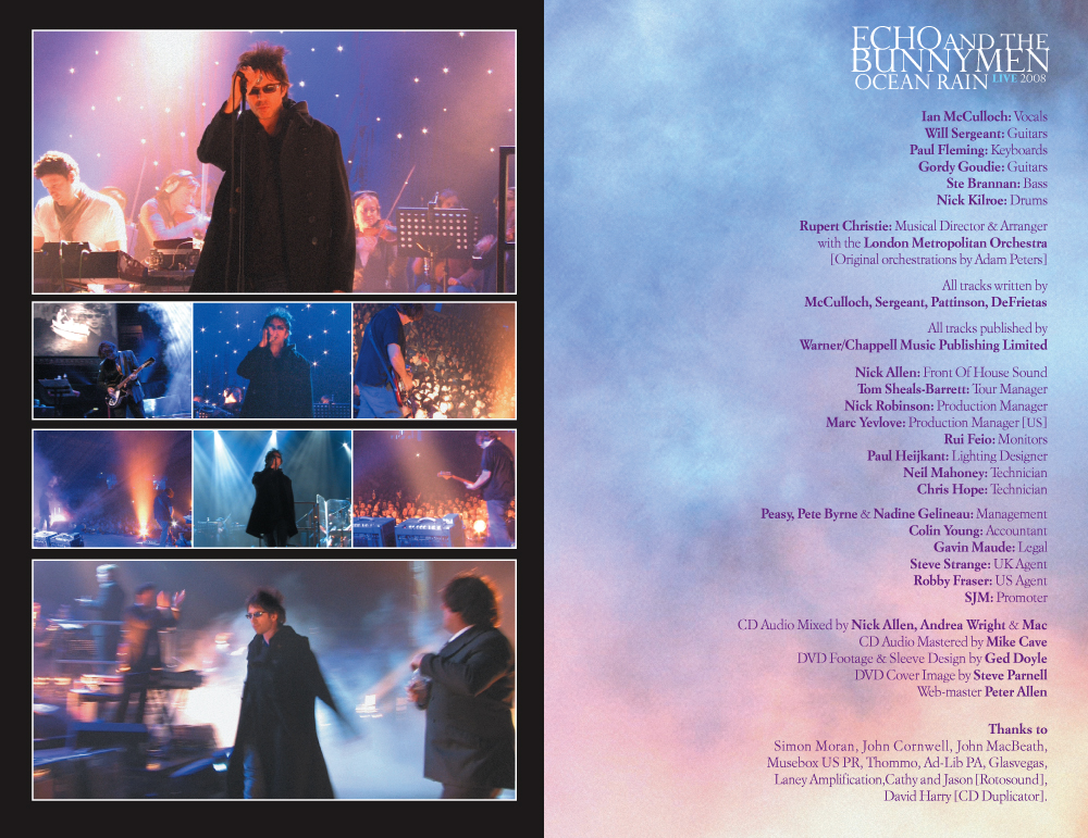 Echo and the Bunnymen - Ocean Rain DVD Booklet spread 4