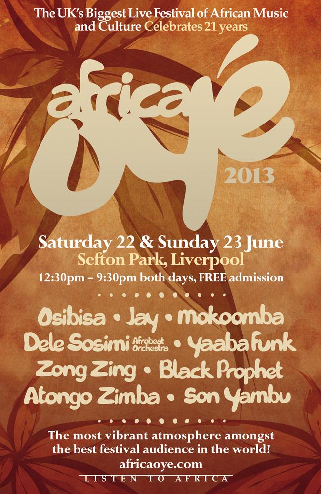 Oyé 2013 Poster