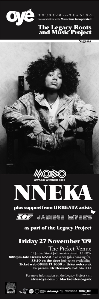 Oyé Touring & Trading: Nneka poster