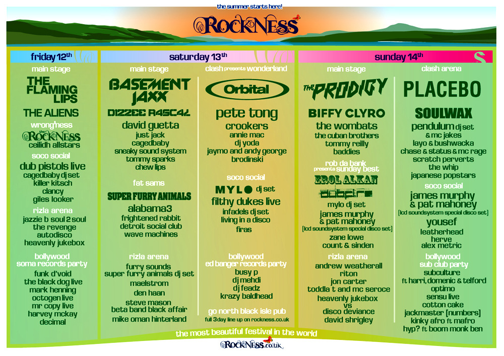 RockNess: A6 – A3 fold out flyer/poster