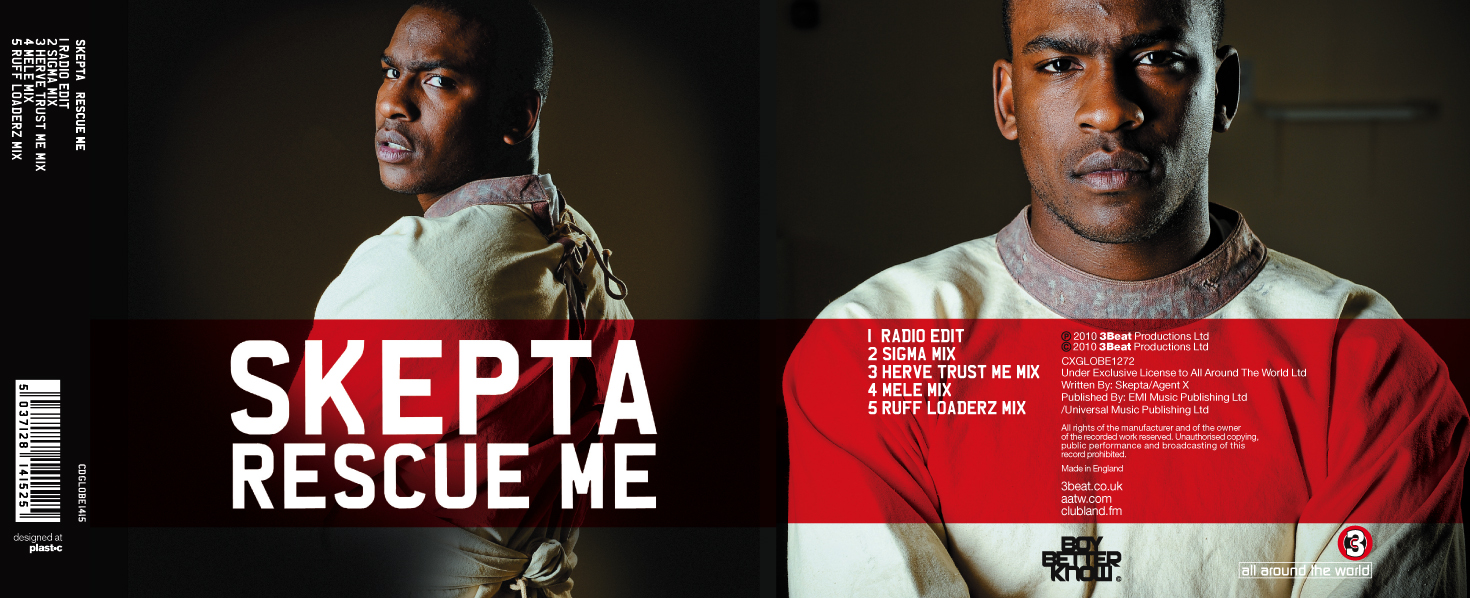Skepta: Rescue Me, single sleeve