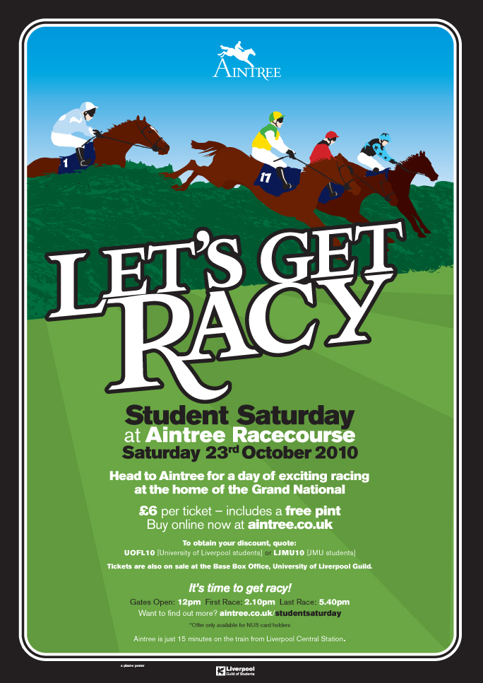 Student Saturday at Aintree: Student Saturday poster