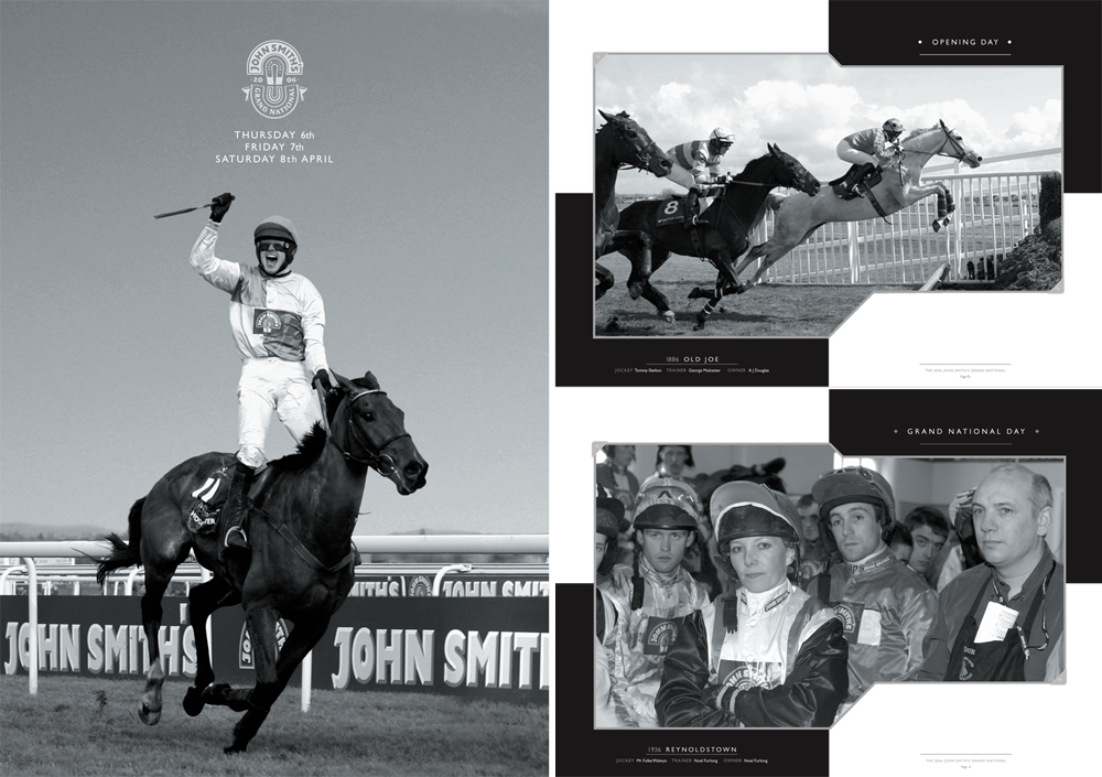 John Smith's Grand National: Brochure and two spreads 2006