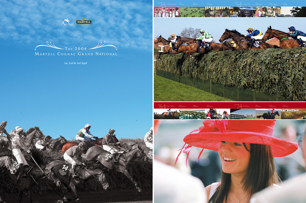 Martell Grand National: Brochure cover and spreads 2004