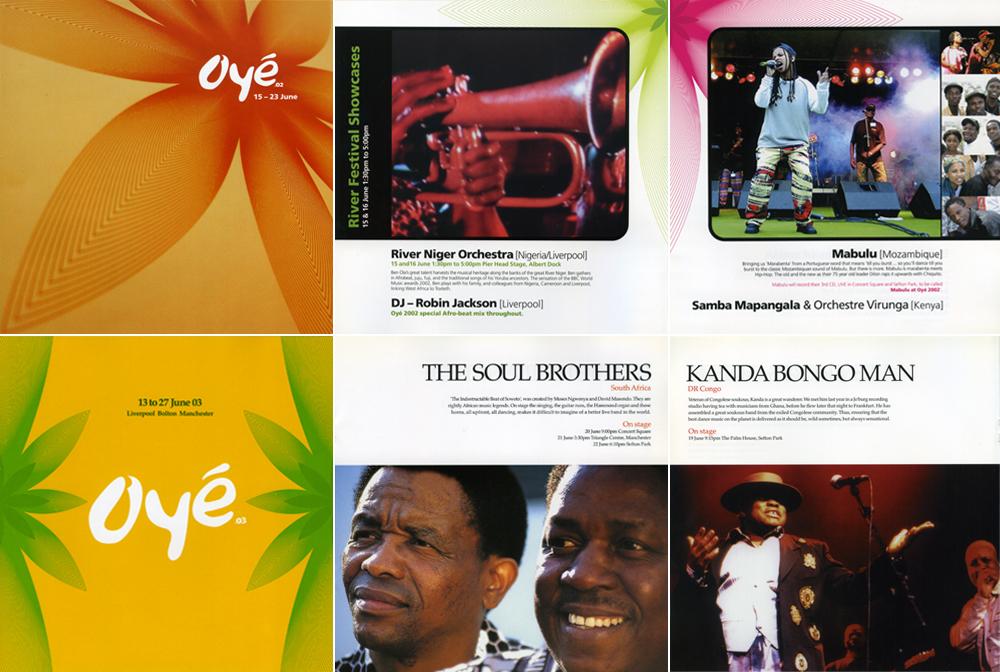 Africa Oyé: Brochures 2002 – 2003