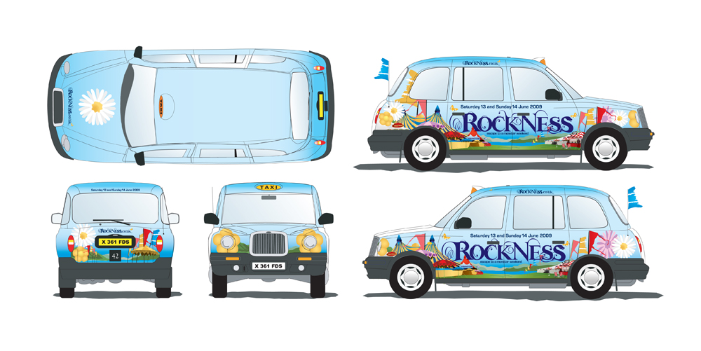Rockness: Taxi livery