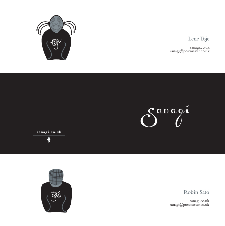 sanagi: Folded business cards